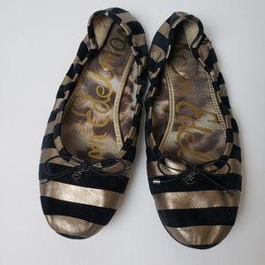 Sam Eldeman leather zebra balett flats size 10